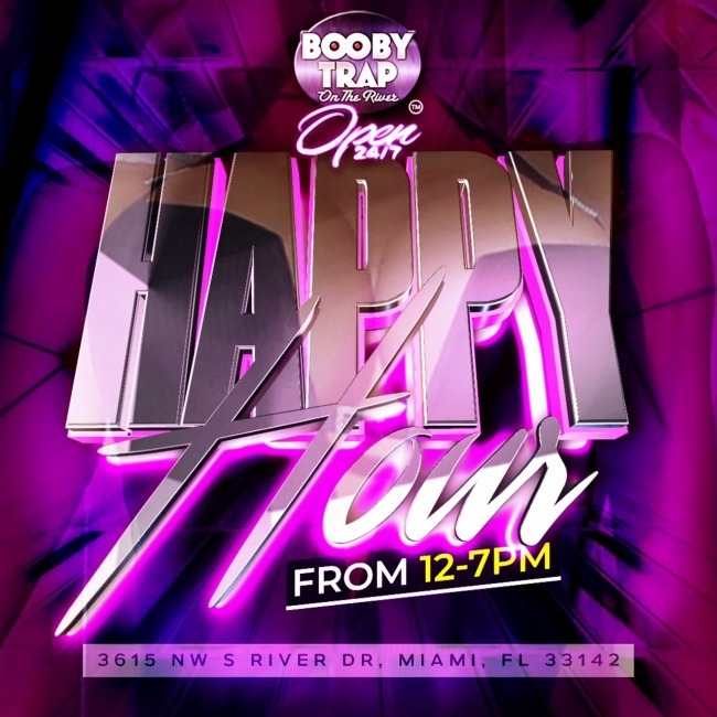 Happy Hour from 12 to 7pm Booby Trap on the River
