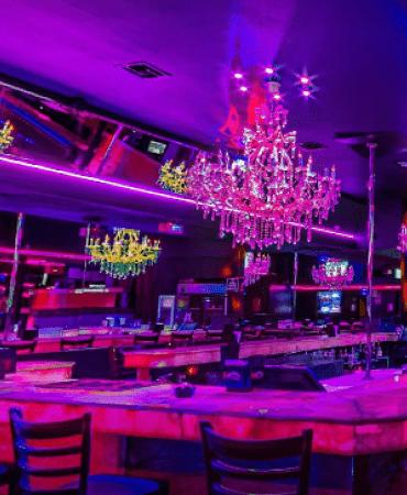 Fuera de horas club de striptease en el sur de Miami