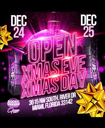 Open Christmas Eve and Christmas Day