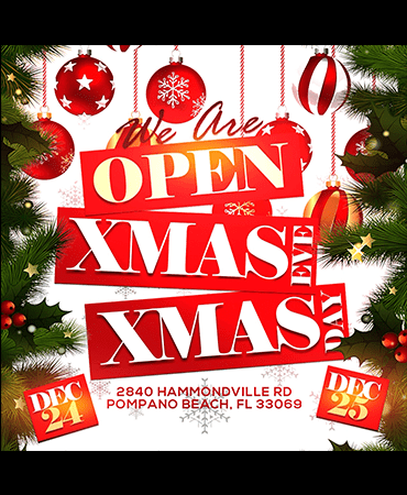 Open December 24th and December 25th